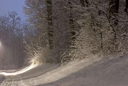 Snow road Banco de Imagens