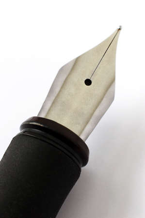 Fountain pen over white background