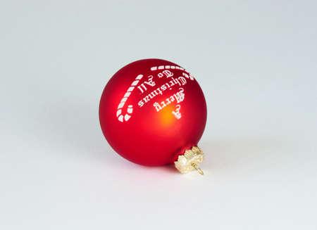 Christmas ornament over white photo