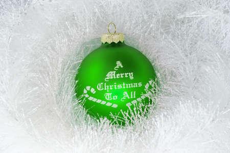 Christmas decoration and green ball