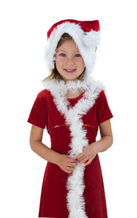 Snow Maiden / Little girl in red Stock Photo - 279093