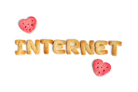 Internet and two hearts photo
