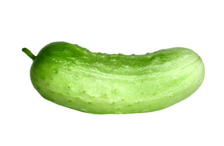 foodie: Cucumber over white background