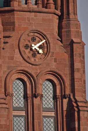 castles needle: Clock on the tower