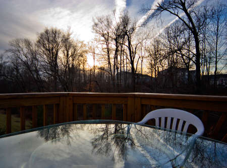 View from deck at evening