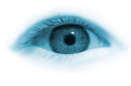 Girl eye in blue tone