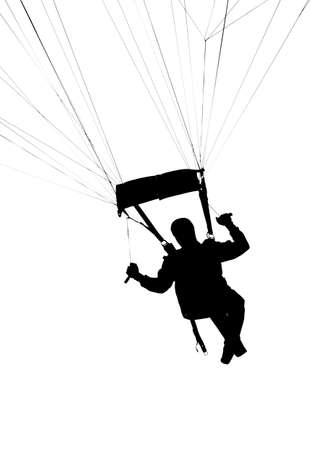 Skytrooper silhouette over white background Standard-Bild
