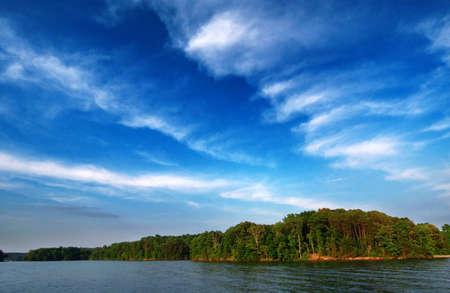 jezior: Smith Mountain Lake, Virginia, USA