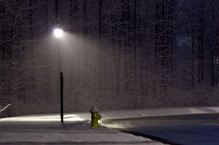 Hydrant under the light