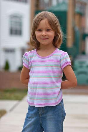 Portrait of cute little girl Stock Photo - 606165