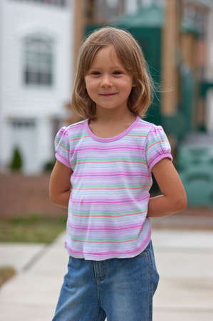 Portrait of cute little girl Stock Photo - 606165