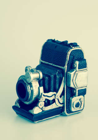 Vintage camera bank isolated photo