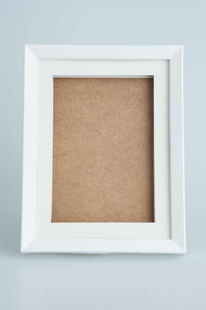 old photo: White picture frame isolated