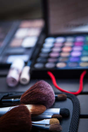 Makeup kit and brushes Stock Photo - 19079922