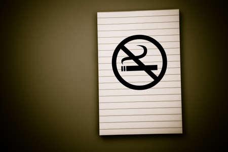 pad: No smoking lined note pad