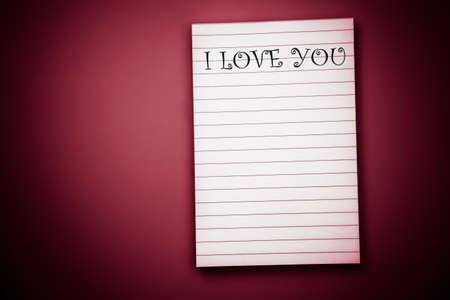i pad: I love you note pad Stock Photo