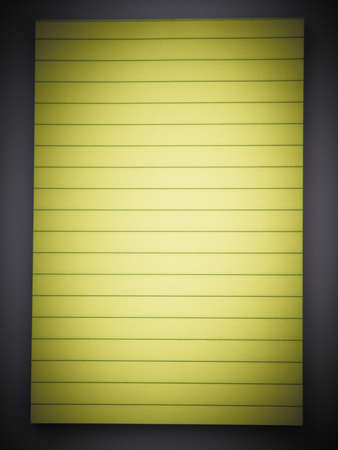 Yellow lined note pad photo