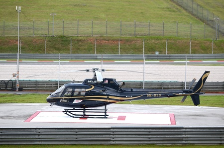 sic: Black helicopter of Sepang International Circuit (SIC), Malaysia