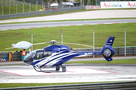 Blue helicopter of Sepang International Circuit (SIC), Malaysia