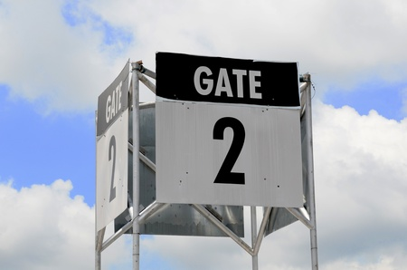 Sign of gate 2 Stock Photo - 11063506