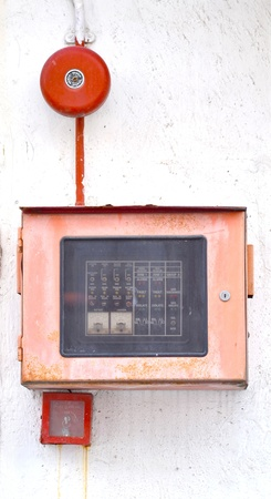 Fire alarm system on wall photo
