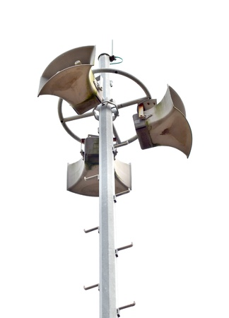 Loudspeakers on pole  photo