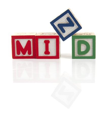 tessera: Mind letters on wooden blocks