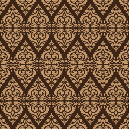 East Java seamless pattern background 9. Elegant luxury texture for wallpapers, backgrounds. Floral ornament.
