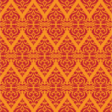 East Java seamless pattern background 6. Elegant luxury texture for wallpapers, backgrounds. Floral ornament.