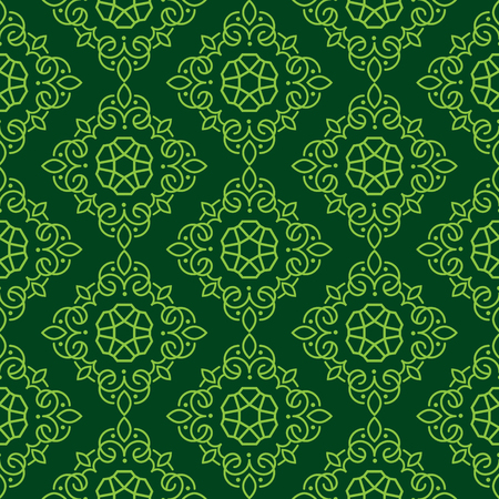East Java seamless pattern background 17. Elegant luxury texture for wallpapers, backgrounds. Floral ornament.