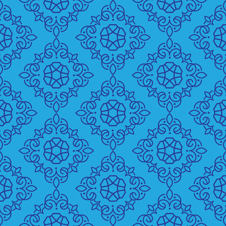 East Java seamless pattern background 14. Elegant luxury texture for wallpapers, backgrounds. Floral ornament.