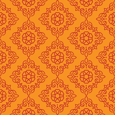 East Java seamless pattern background 16. Elegant luxury texture for wallpapers, backgrounds. Floral ornament. Иллюстрация