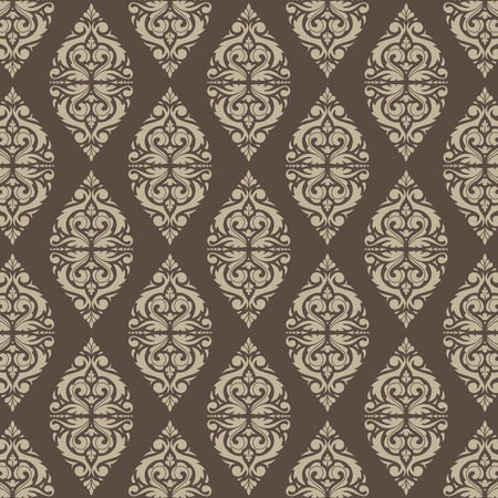 East Java seamless pattern background 10. Elegant luxury texture for wallpapers, backgrounds. Floral ornament. Иллюстрация