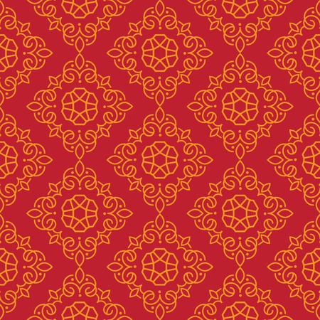 East Java seamless pattern background 13. Elegant luxury texture for wallpapers, backgrounds. Floral ornament. Illustration