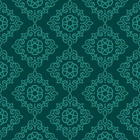 East Java seamless pattern background 18. Elegant luxury texture for wallpapers, backgrounds. Floral ornament.