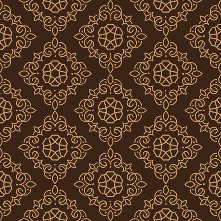 East Java seamless pattern background 19. Elegant luxury texture for wallpapers, backgrounds. Floral ornament.