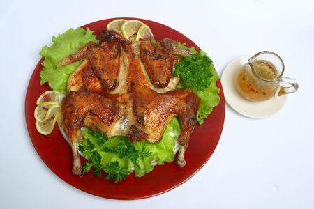 Georgian, food, dinner, fresh, meat, roast, mea Stock Photo - 703512