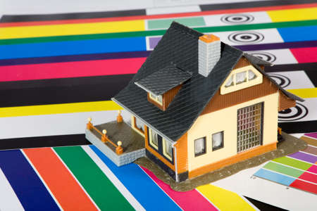 Colouring of the constructed house by a paint.
