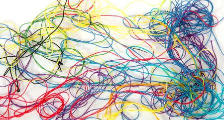 crafty: threads on white background