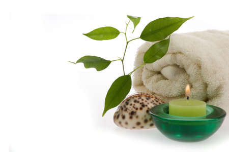 mental object: Spa composition on white background