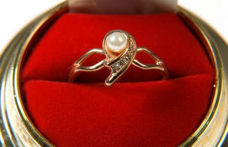 wedding ring on white background Stock Photo - 5420203