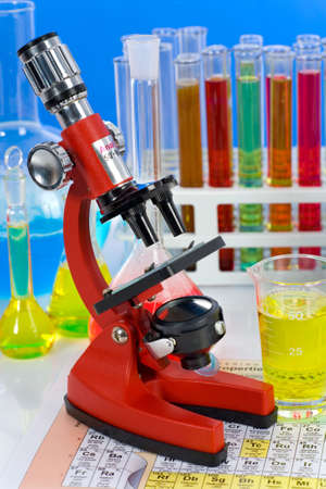 reagents:   Laboratory ware, microscope and reagents