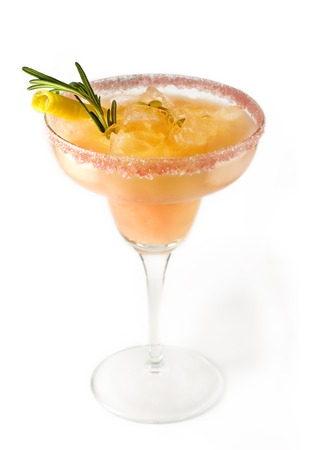 sweet vermouth: Daiquiri cocktail isolated on white background. Its made from 2 oz rum,1 2 lime juice,1 tsp castor sugar