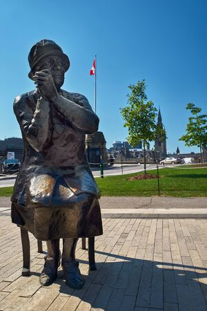 Ottawa, Canada September 18, 2018: The Valiant Five statues represent the Five women from Alberta who sought to have women legally considered persons so that women could be appointed to the Senate. Editorial
