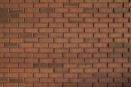 Empty red brick wall textured background. close up. Stock Photo