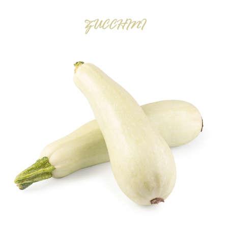 Fresh vegetable marrow isolated on white background