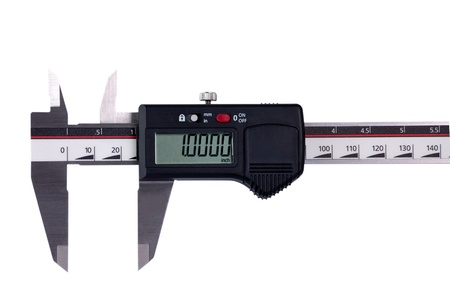 sliding caliper: Digital sliding measure Stock Photo