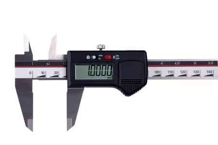 sliding caliper: Digital sliding measure Stock Photo