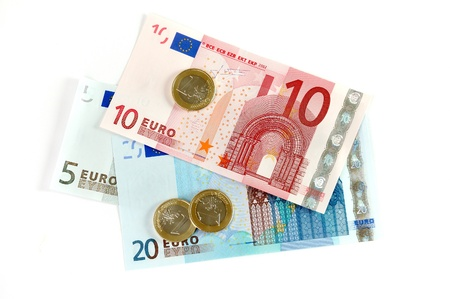 european union currency: La moneda de la Uni�n Europea Foto de archivo