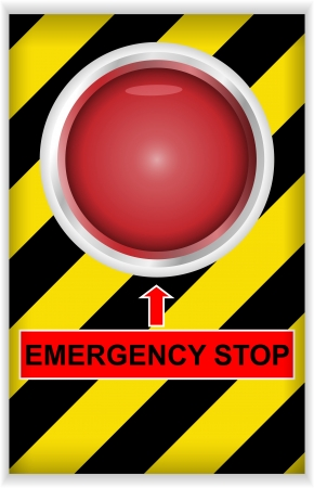 emergency services: Vector illustration of emergency stop button